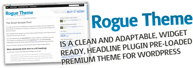 Rogue Theme for WordPress